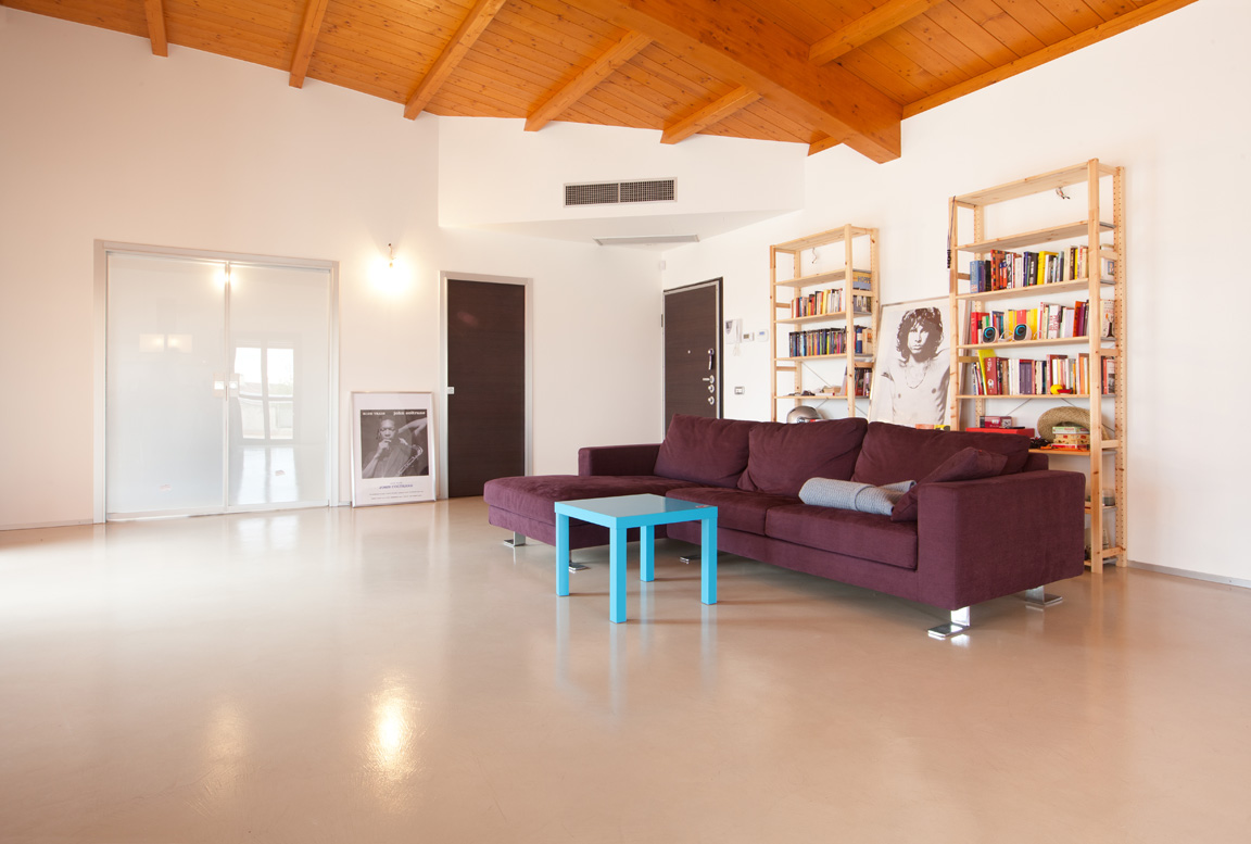 pavimento in resina decorativa