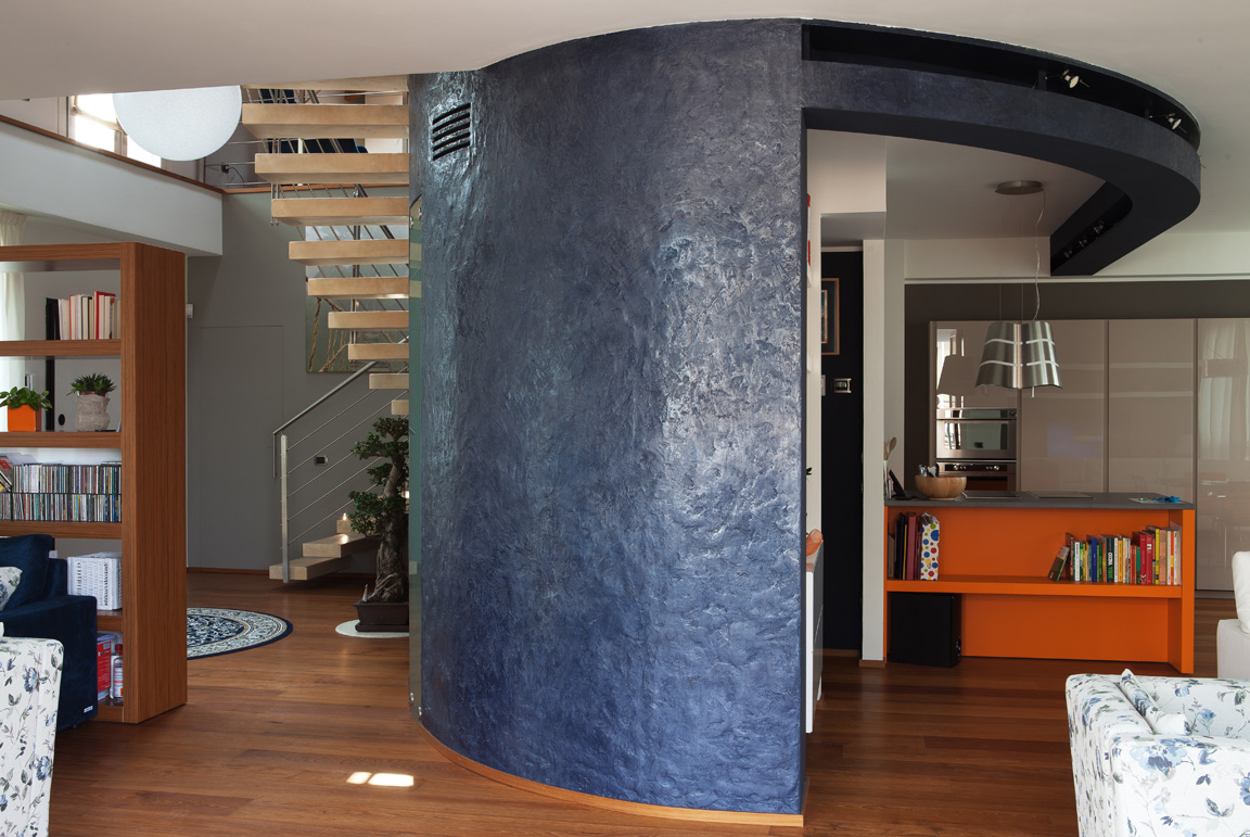 muro in resina decorativa