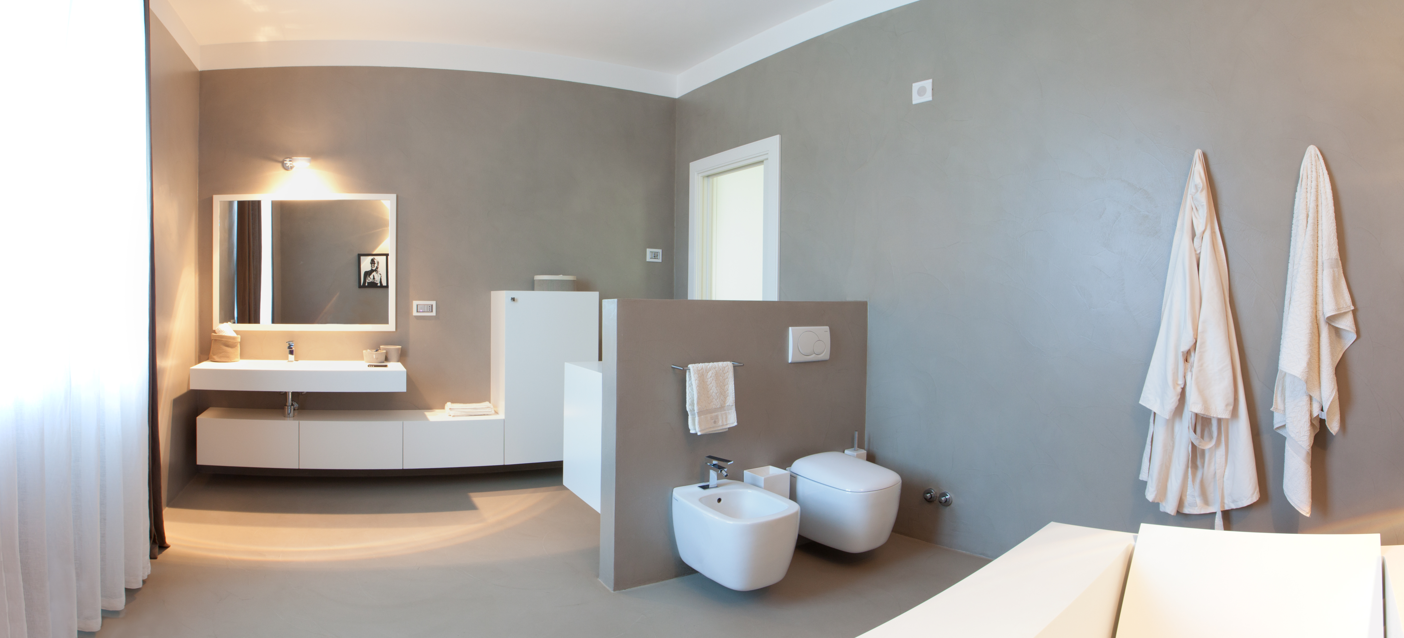 resina decorativa esempio bagno